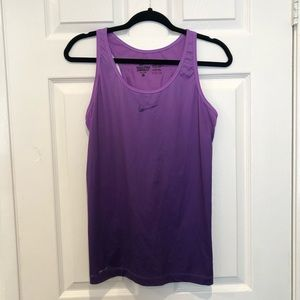 Nike purple ombré workout tank top size medium
